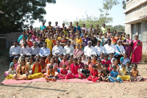 Group Picture with Girls and Ladies, Youth Camp, Kurnool