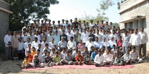 Group Photo with boys annd men, Youth Camp, Kurnool