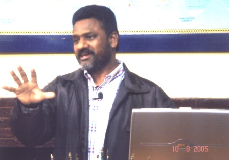 Sudhakar addressing 100 missionaries in Brazil
